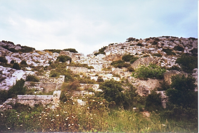 Remains of the 2nd century AD mill complex at Barbegal near Arles, France (MWAT-007)