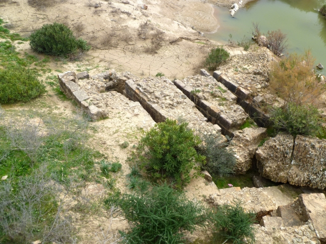 Remains of horizontal mill site at Chemtou, Tunisia (MWAT-009)