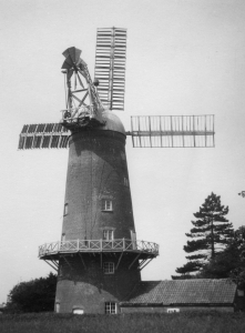 The tower mill in Harby, Leicestershire, which Simmons photographed on 1 July 1933