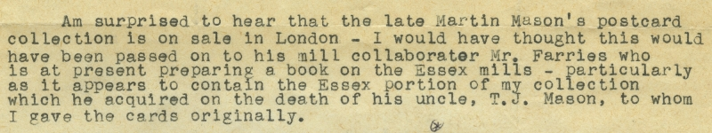 Extract from a letter from H E S Simmons to Stephen Buckland, 12 January 1971.