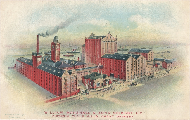 Victoria Flour Mills, Grimsby. (Postcard from the Mills Archive Collection, MCFC-1131313)