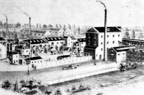 Paine's Brewery and Stone Flour Mill, 1900