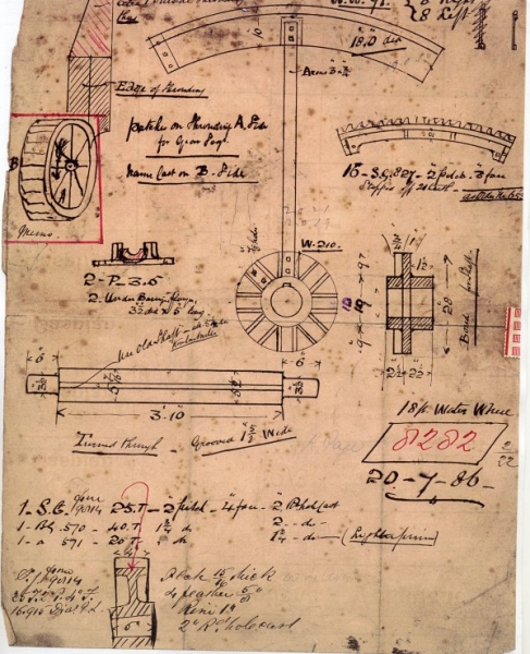 Waterwheel details