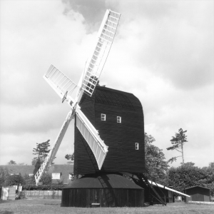 Restoration complete. The appearance of the mill compares well with early photographs showing it in working order