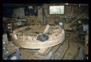 In the workshop, a completely new brake wheel was constructed to replaced the decayed original. It has 136 individually-fitted wooden cogs and is more than 8ft in diameter