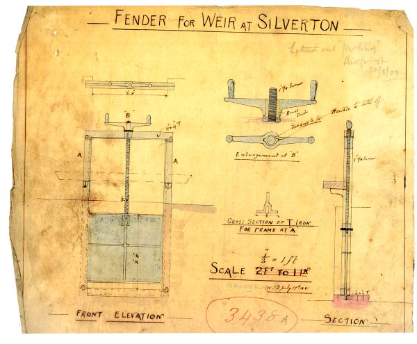 Design for metal 'fender' at Silverton